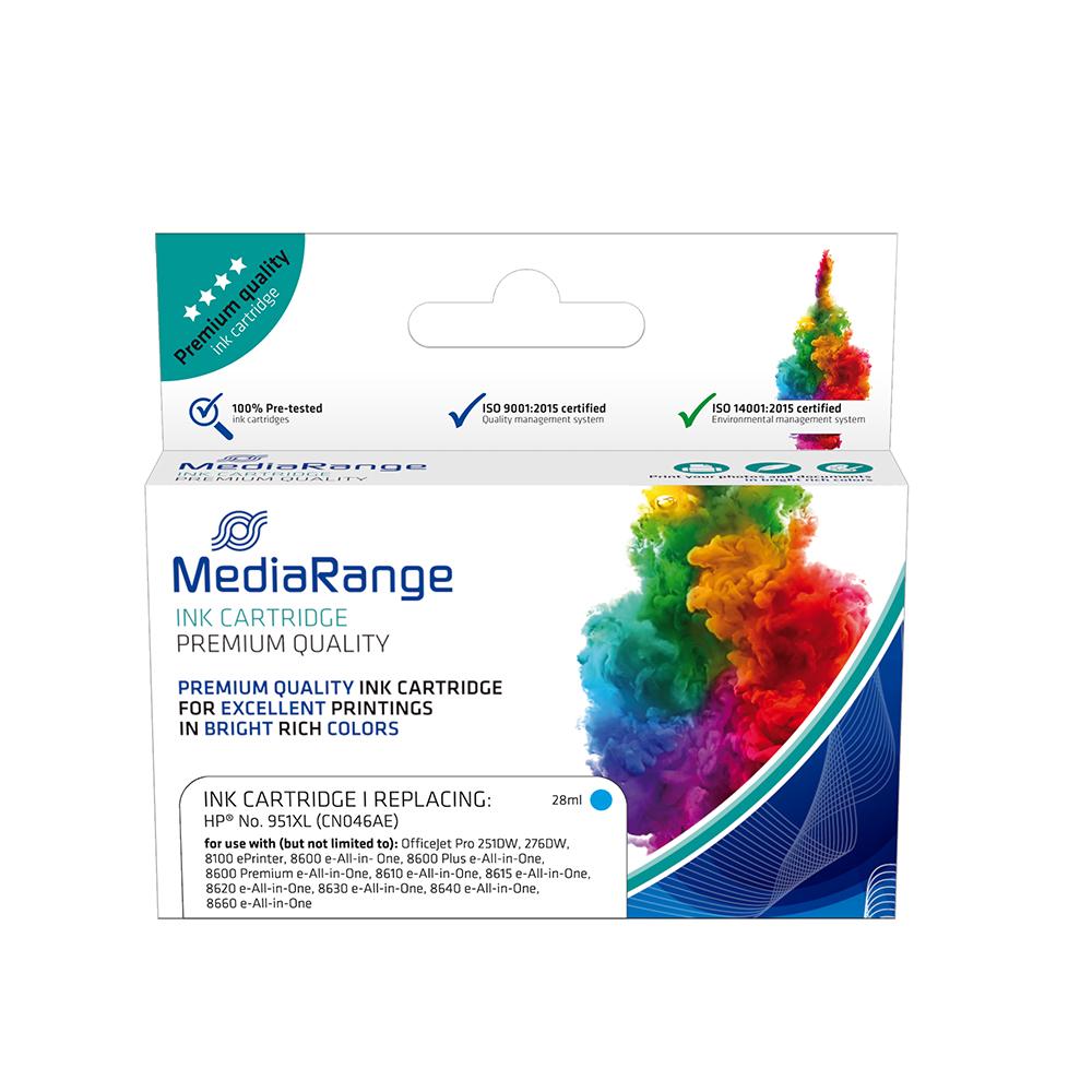 Inkjet MEDIARANGE Συμβατό για Εκτυπωτές HP (Cyan) (No.951XL) (CN046AE) (MRHP951CXL)