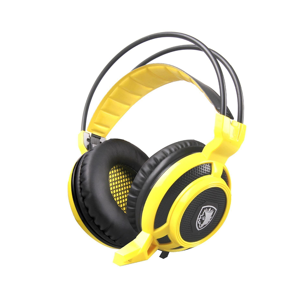 Motospeed H19 Yellow Wired Gaming Headset Yellow Color