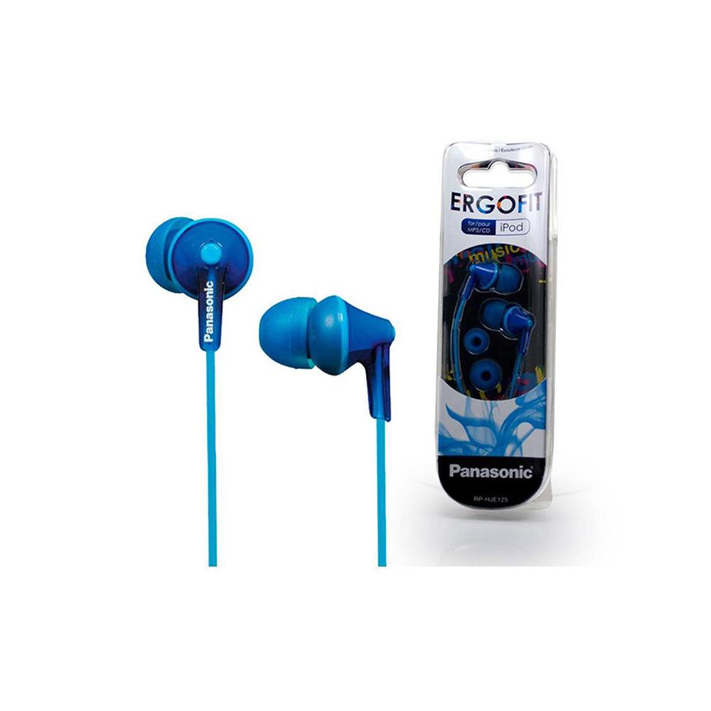 Panasonic RP-HJE125 Blue Headphones (RPHJE125EA) (PANRPHJE125EA)