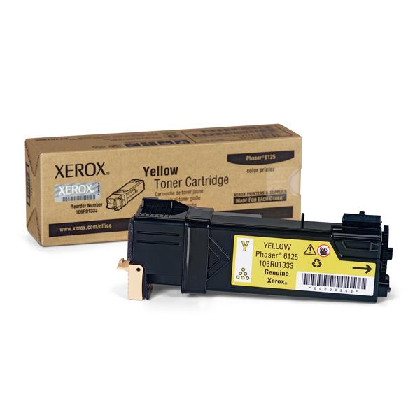 XEROX PHASER 6125 YELLOW TONER (106R01333) (XER106R01333)