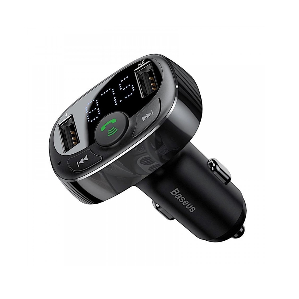 Baseus FM Transmitter T typed Bluetooth 2xUSB microSD (CCTM-01) (BASCCTM-01)