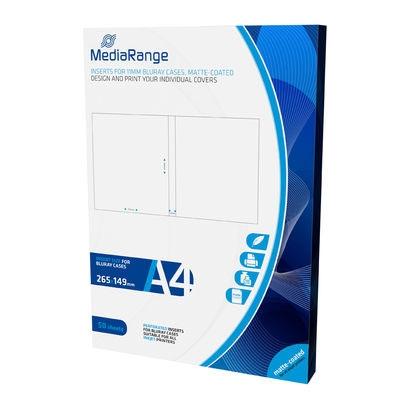 MediaRange Inserts for 11mm Bluray Cases Matte (50 Pack) (MRINK123)