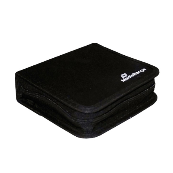 MediaRange Media Storage Wallet for 24 Discs Nylon Black (MRBOX50)