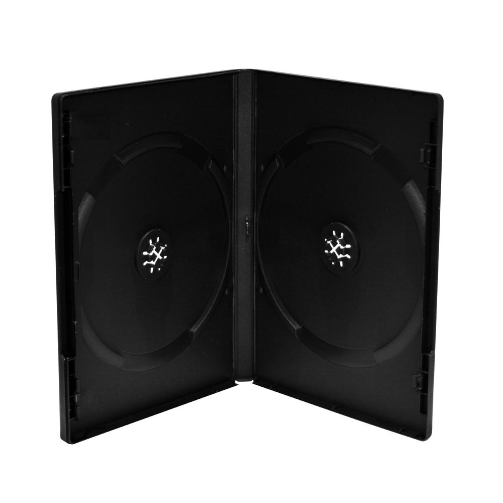 MediaRange DVD Case for 2 discs 14mm Black Pack 5  (MRBOX30-2)