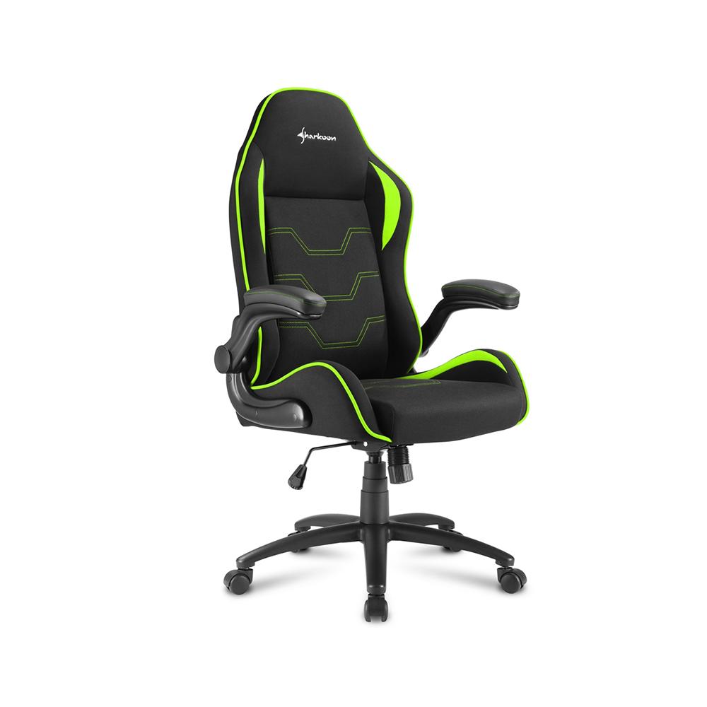 Sharkoon Elbrus 1 gaming chair Black/Green (ELBRUS1GR) (SHRELBRUS1GR)
