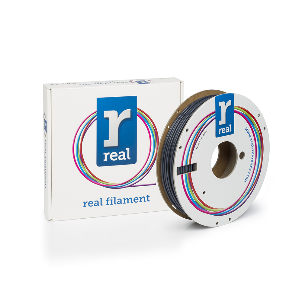 REAL PLA 3D Printer Filament - Gray - spool of 0.5Kg – 2.85mm (REFPLAGRAY500MM3)