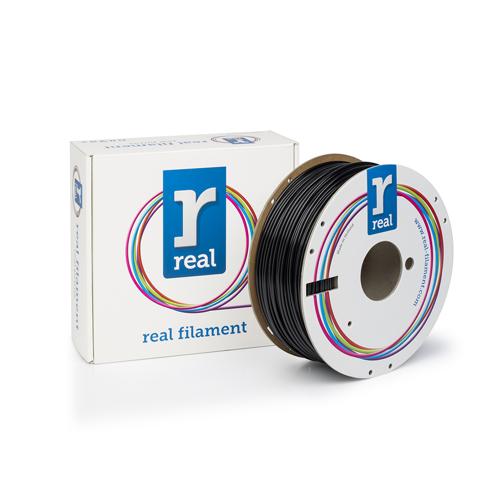 REAL PETG 3D Printer Filament - Black - spool of 1Kg - 2.85mm (REFPETGSBLACK1000MM300)