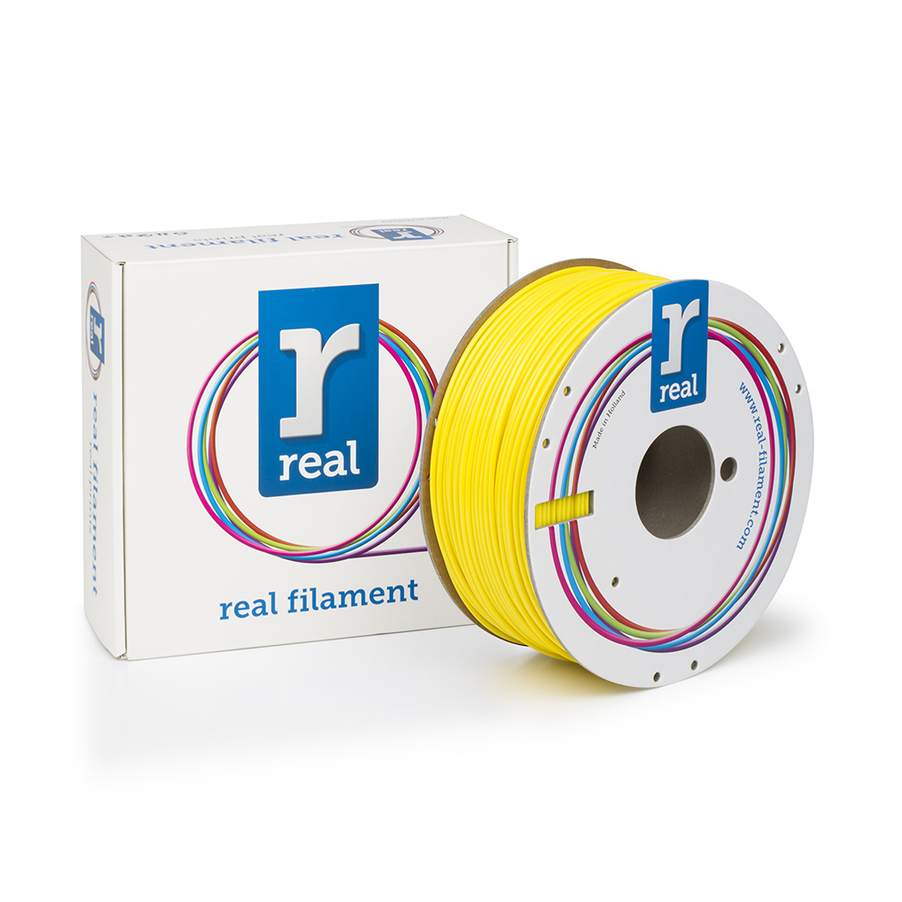 REAL ABS 3D Printer Filament - Yellow - spool of 1Kg - 2.85mm (REFABSYELLOW1000MM3)