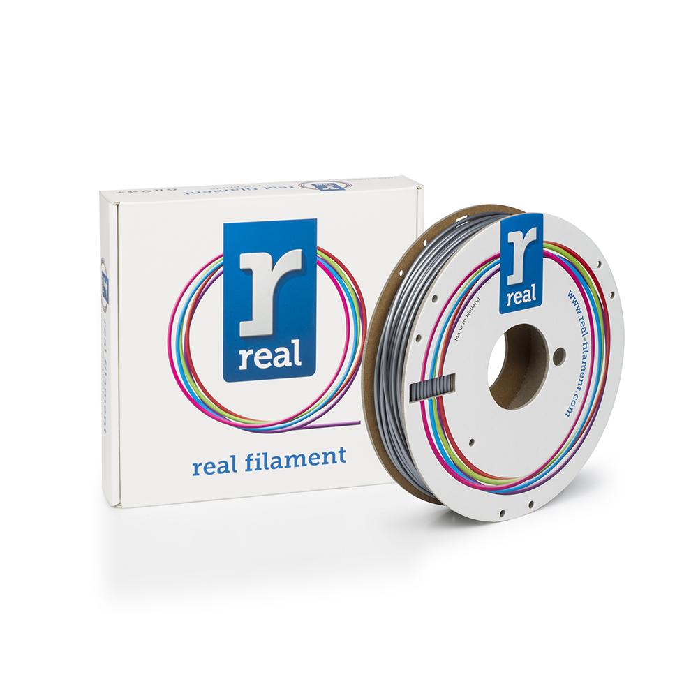 REAL PLA 3D Printer Filament - Silver - spool of 0.5Kg – 2.85mm (REFPLASILVER500MM3)