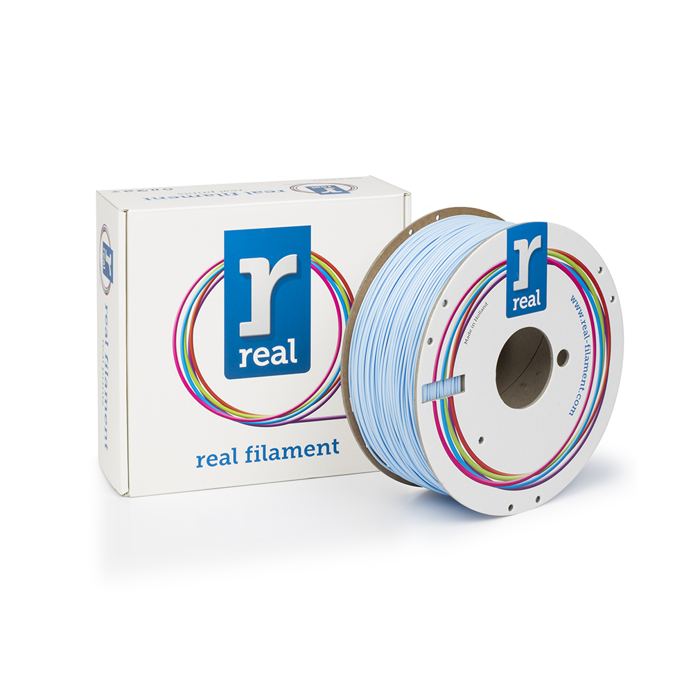 REAL PLA 3D Printer Filament - Light Blue - spool of 1Kg - 1.75mm (REFPLALBLUE1000MM175)