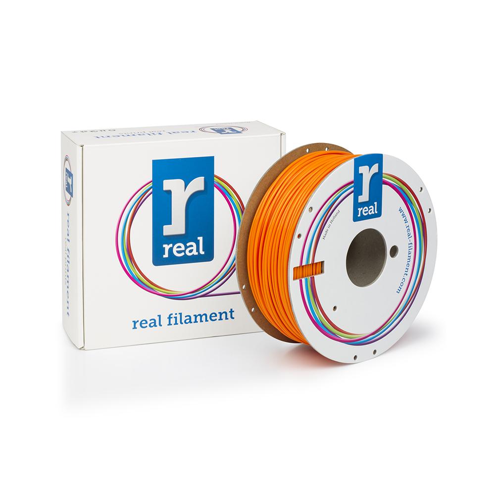 REAL PLA 3D Printer Filament - Fluorescent Orange - spool of 1Kg - 2.85mm (REFPLAFORANGE1000MM3)