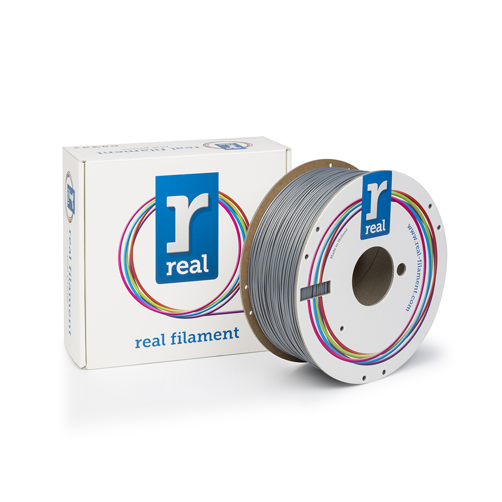 REAL ABS 3D Printer Filament - Silver - spool of 1Kg - 1.75mm (REFABSSILVER1000MM175)