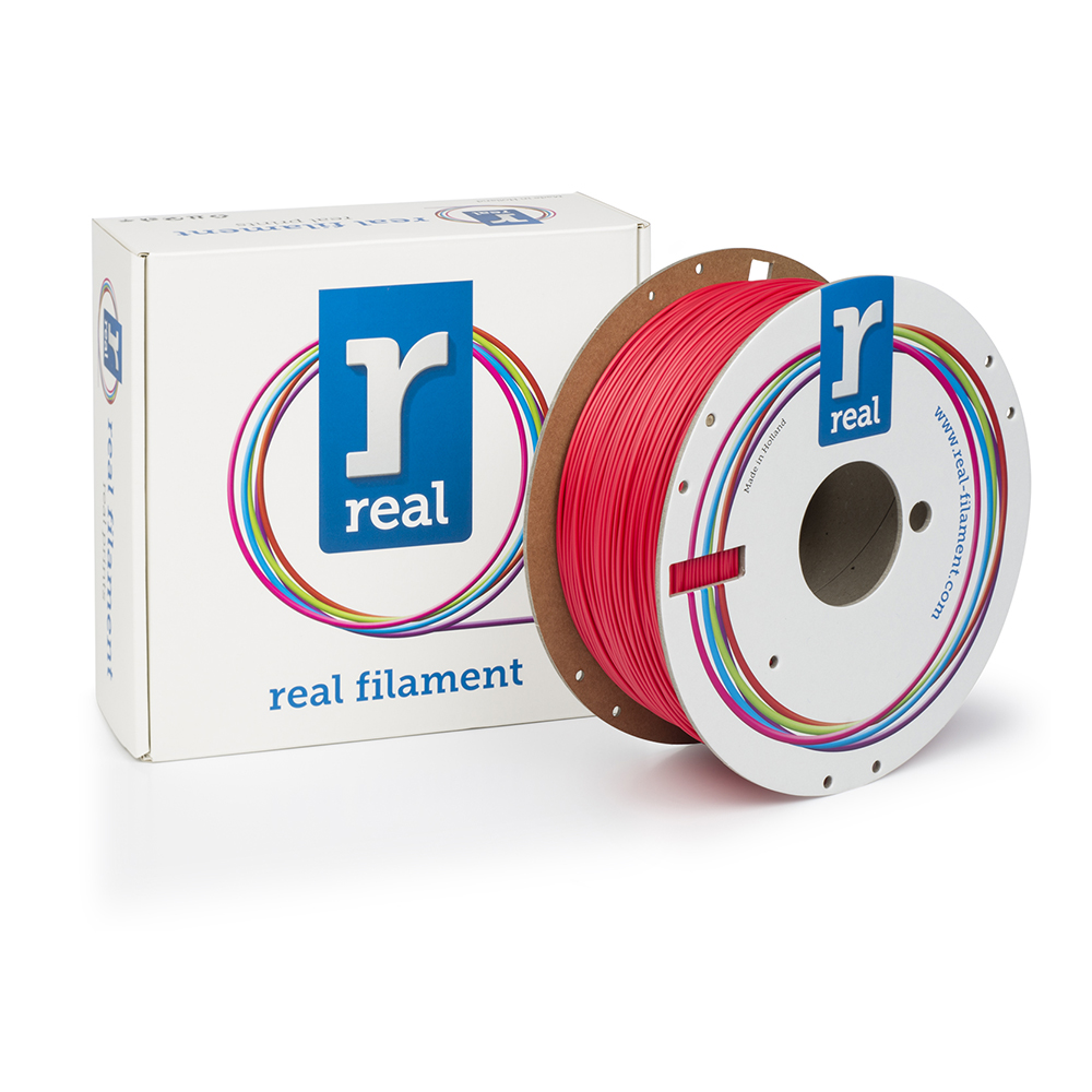 REAL RealFlex 3D Printer Filament - Red - spool of 1Kg - 1.75mm