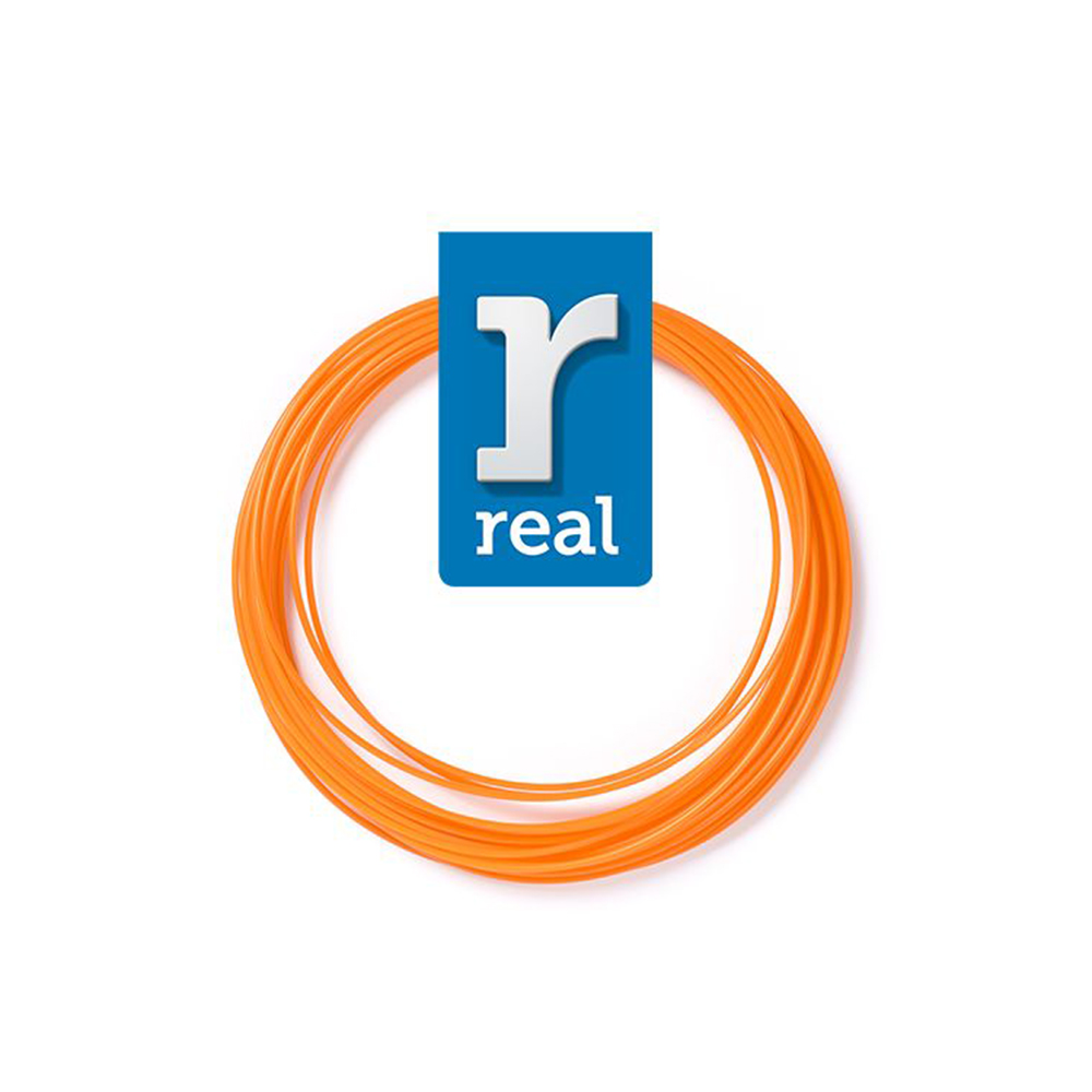 REAL PLA 3D pen filament Orange ( 10 m / 1.75 mm ) (3DPFPLAORANGE10MM175) (REF3DPFPLAORANGE10MM175)