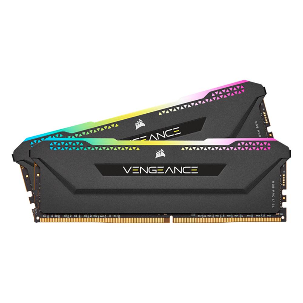 Corsair RAM VENGEANCE RGB PRO SL 16GB (2x8GB) DDR4 DRAM 3600MHz C18 Memory Kit – Black (CMH16GX4M2D3600C18) (CORCMH16GX4M2D3600C18)