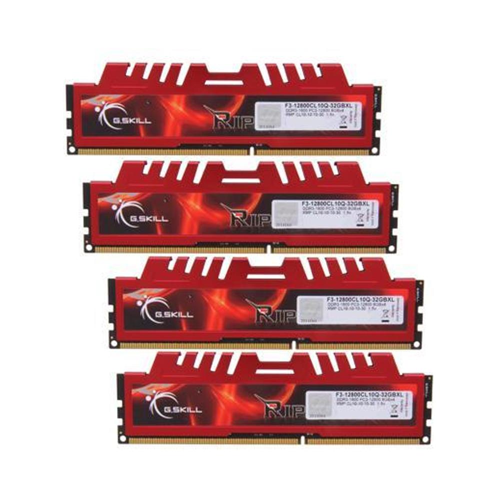 G.Skill RipjawsX DDR3-1600MHz 32GB (4x8GB) (F3-12800CL10Q-32GBXL) (GSKF3-12800CL10Q-32GBXL)