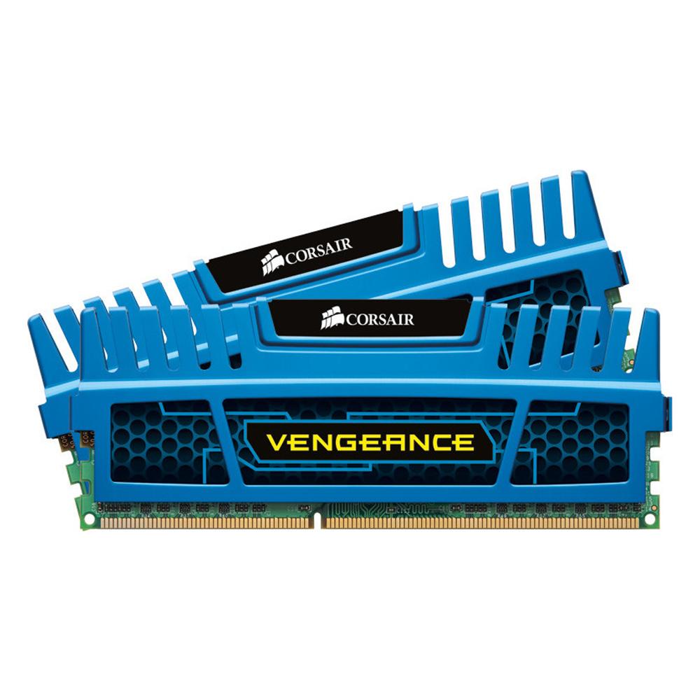 Corsair Vengeance® — 16GB Dual Channel DDR3 Memory Kit Blue (CMZ16GX3M2A1600C10B)