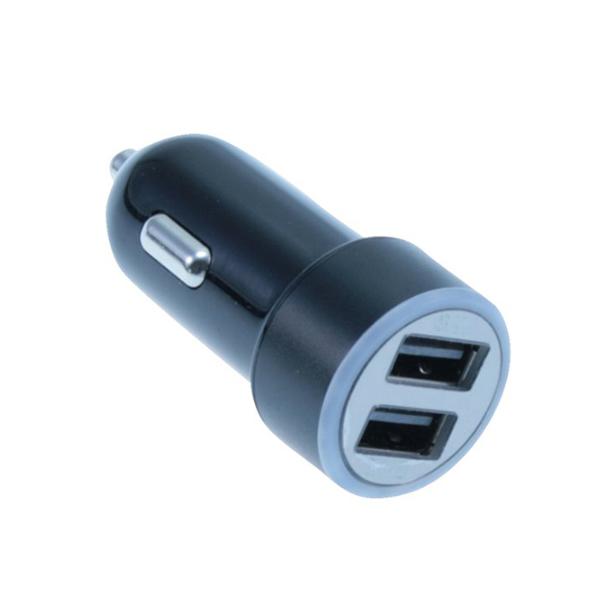 MediaRange Φορτιστής αυτοκινήτου 3.4A Dual USB output (Μαύρο/Ασημί) (MRMA103-02)