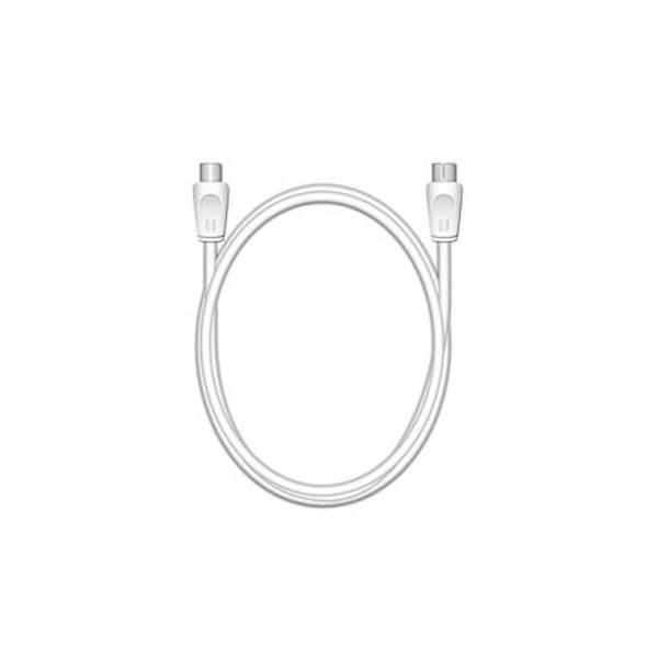 Καλώδιο MediaRange Coax Plug/Coax Socket, 75 Ohm, 1.5M., White (MRCS162)
