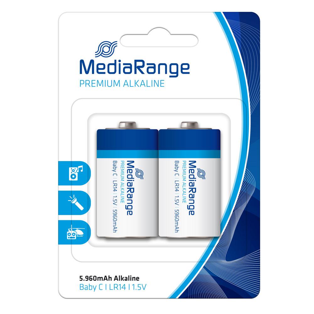 Αλκαλική Μπαταρία MediaRange Premium C 1.5V (LR14) (2 Pack) (MRBAT108)
