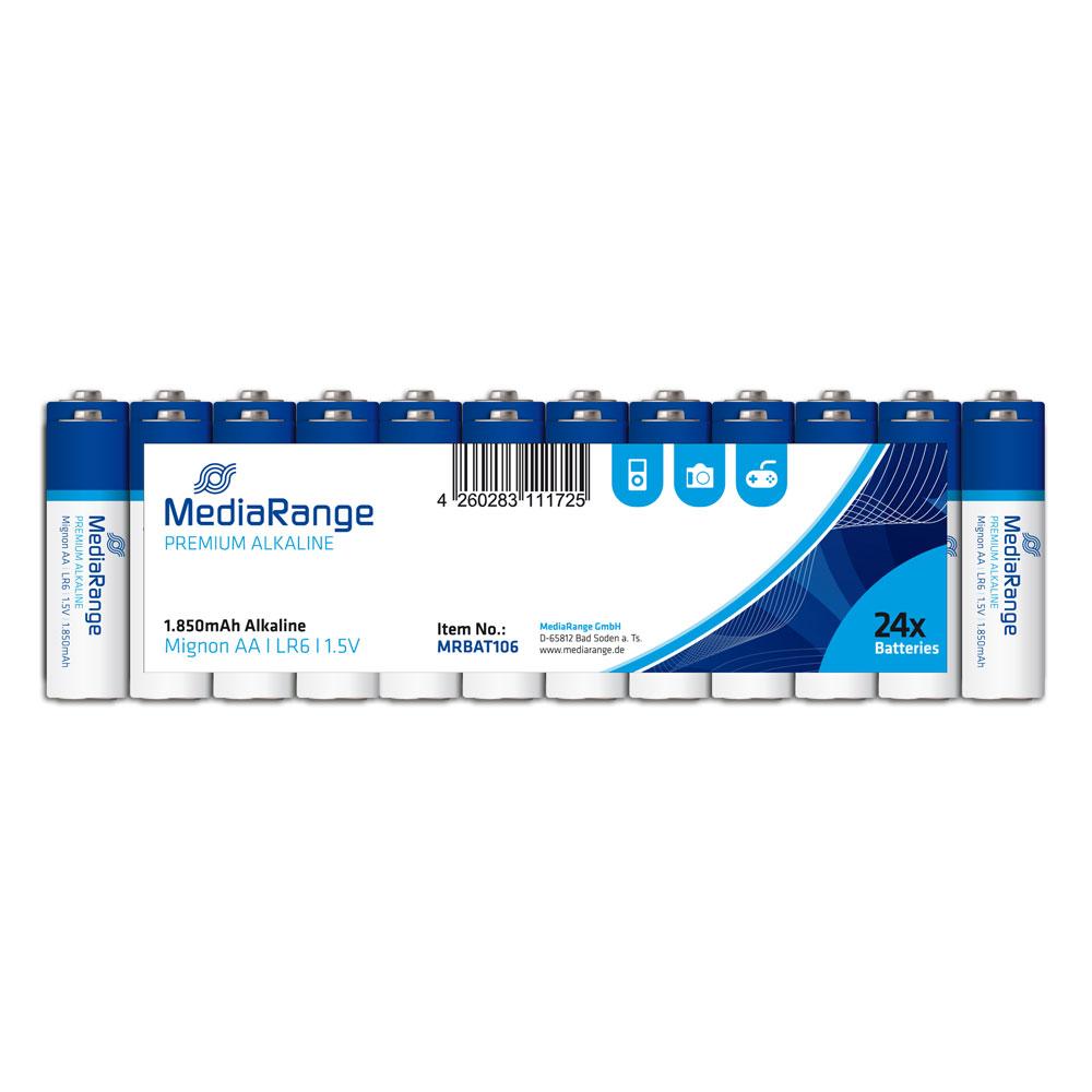 Αλκαλική Μπαταρία MediaRange Premium AA 1.5V (LR6) (24 Pack) (MRBAT106)