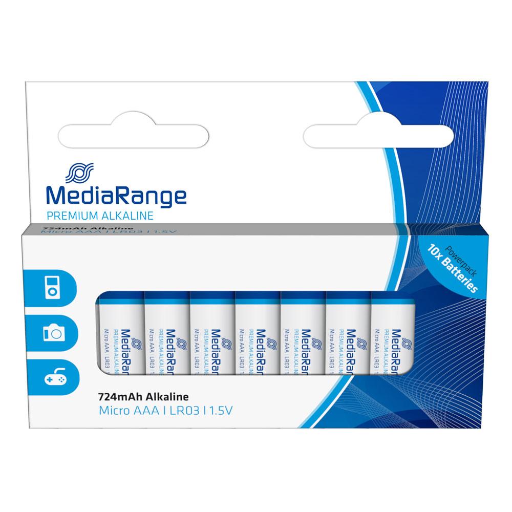 Αλκαλική Μπαταρία MediaRange Premium AAA 1.5V (LR3) (10 Pack) (MRBAT102)