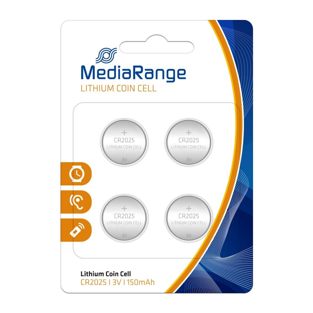Μπαταρία Λιθίου MediaRange Coin Cells CR2025 3V (4 Pack) (MRBAT131)