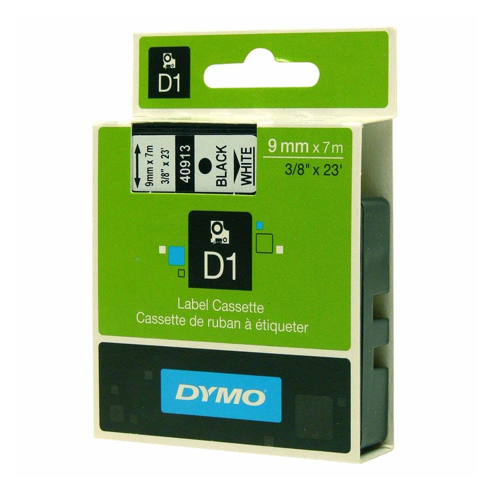 Ταινία Ετικετογράφου DYMO Standard 40910 9 mm x 7 m (Μαύρα Γράμματα σε Διάφανο Φόντο) (DYMO40910)