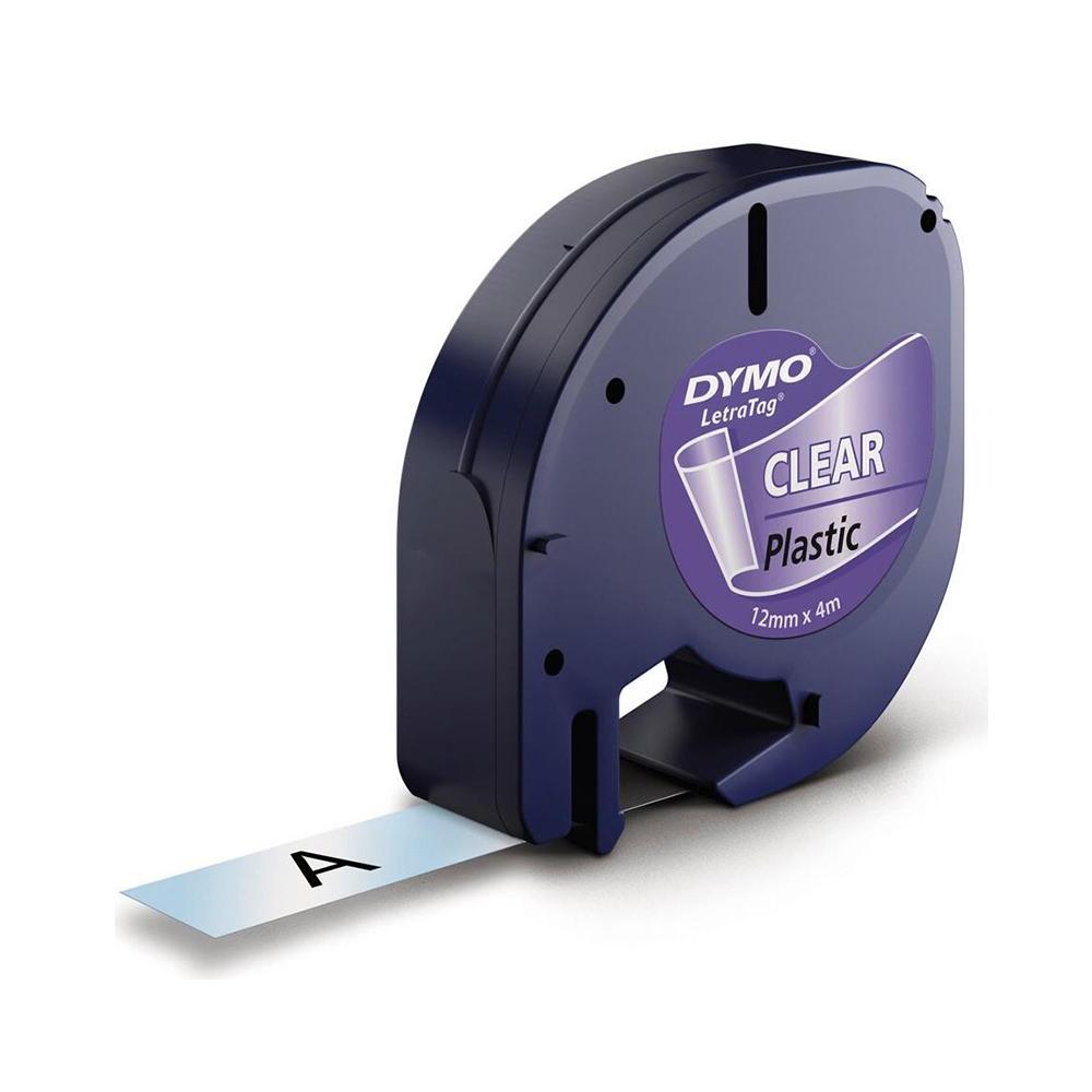 Ταινία Ετικετογράφου Dymo Letratag Plastic tape transparent 12mm x 4m 16951 (S0721550)