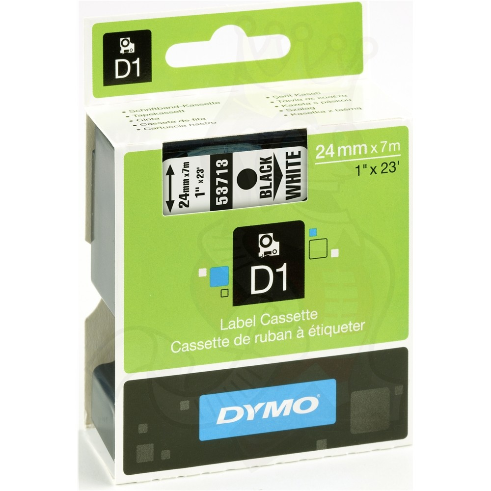 Ταινία Ετικετογράφου DYMO D1 (Μαύρα Γράμματα σε Λευκό Φόντο) (S0720930) (DYMO53713)