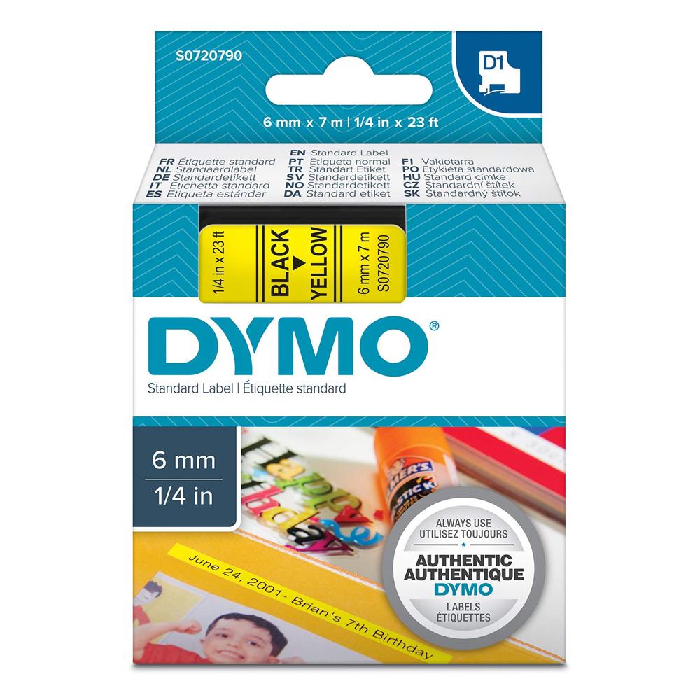 Ταινία Ετικετογράφου DYMO Standard 43618 6 mm x 7 m (Μαύρα Γράμματα σε Κίτρινο Φόντο) (S0720790) (DYMO43618)
