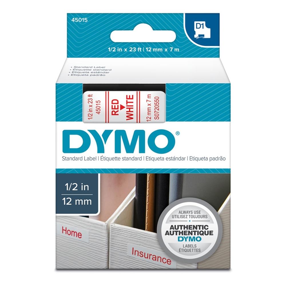 Ταινία Ετικετογράφου DYMO Standard 45015 12 mm x 7 m (Κόκκινα Γράμματα σε Λευκό Φόντο) (S0720550) (DYMO45015)