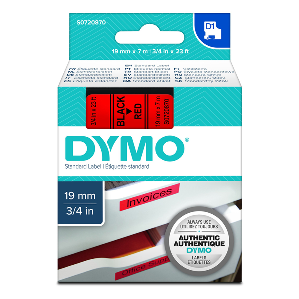 Ταινία Ετικετογράφου DYMO Standard 45811 19 mm x 7 m (Λευκά Γράμματα σε Μαύρο Φόντο) (S0720910) (DYMO45811)