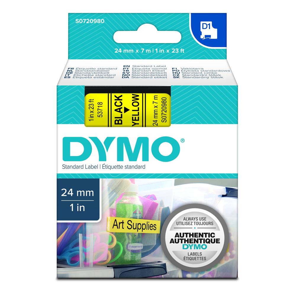 Ταινία Ετικετογράφου DYMO Standard 53717 24 mm x 7 m (Μαύρα Γράμματα σε Κόκκινο Φόντο) (S0720970) (DYMO53717)