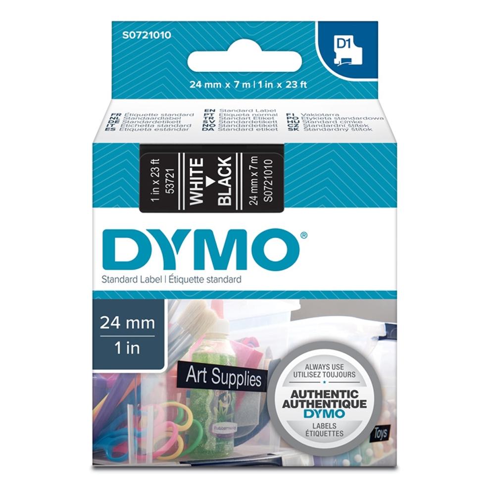 Ταινία Ετικετογράφου DYMO Standard 53721 24 mm x 7 m (Λευκά Γράμματα σε Μαύρο Φόντο) (S0721010) (DYMO53721)