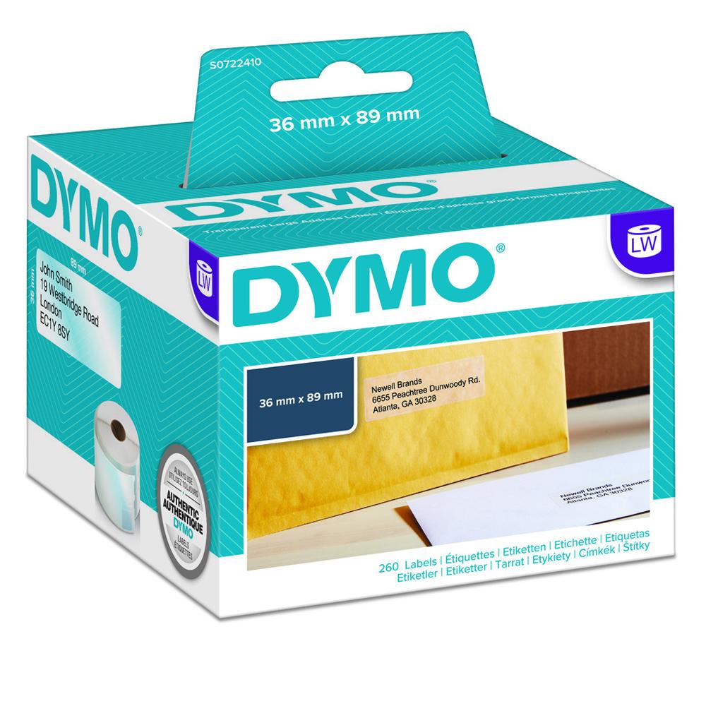 Πλαστική Ετικέτα DYMO 99013 89x36mm (Διάφανο) (1 Ρολό) (S0722410) (DYMO99013)