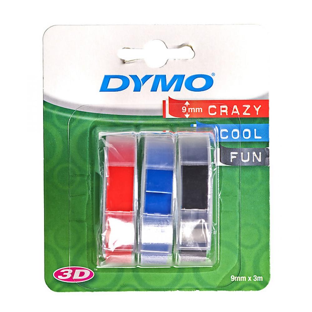 Ταινία Ετικετογράφου DYMO S0847750 Embossing Pack (3 Tapes) - 9mm (Blue/Black/Red) (S0847750) (DYMOS0847750)