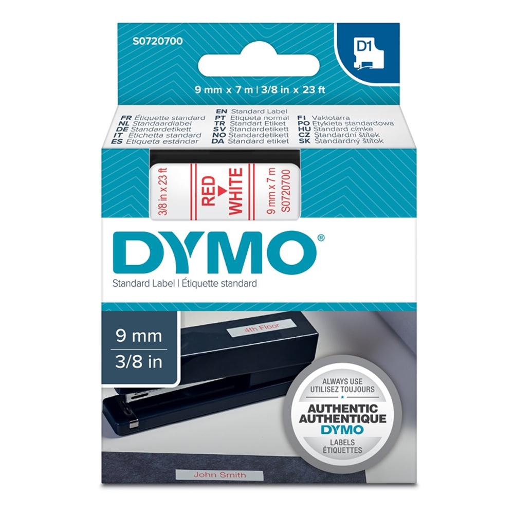 Ταινία Ετικετογράφου DYMO Standard 40914 6 mm x 7 m (Κόκκινα Γράμματα σε Λευκό Φόντο) (S0720700) (DYMO40915)