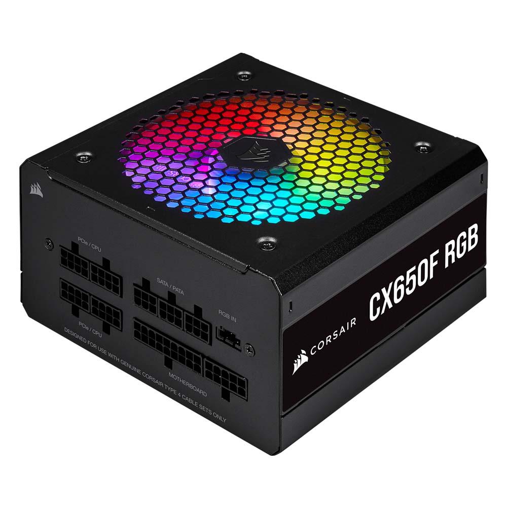 Corsair Τροφοδοτικό CX650F RGB 650 Watt 80 Plus Bronze Fully Modular RGB (CP-9020217-EU)