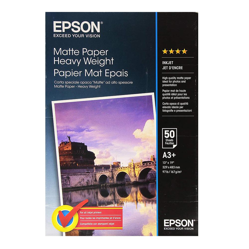 Χαρτί EPSON Heavy Weight Matte Paper A3+ 167g/m², 50 Sheets (C13S041264) (EPSS041264)