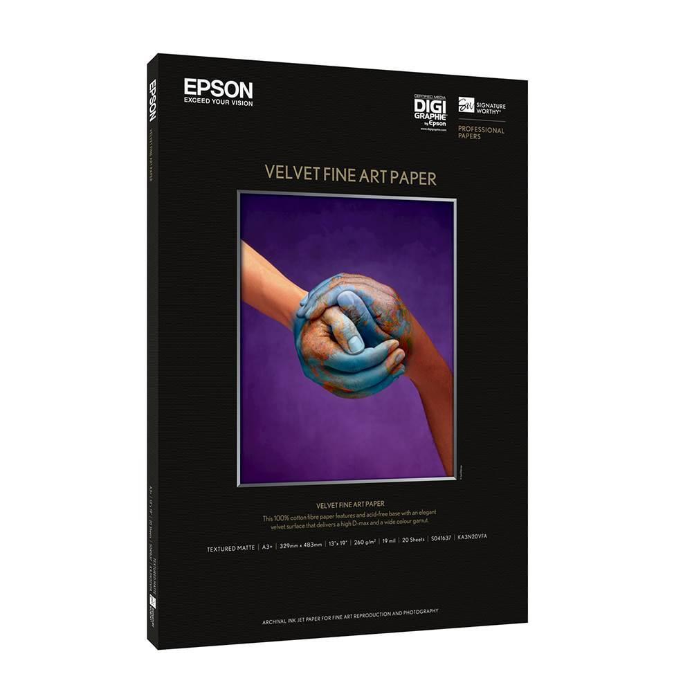 Χαρτί EPSON Velvet Fine Art Paper, A3+, 260g/m², 20 Blatt (C13S041637) (EPSS041637)