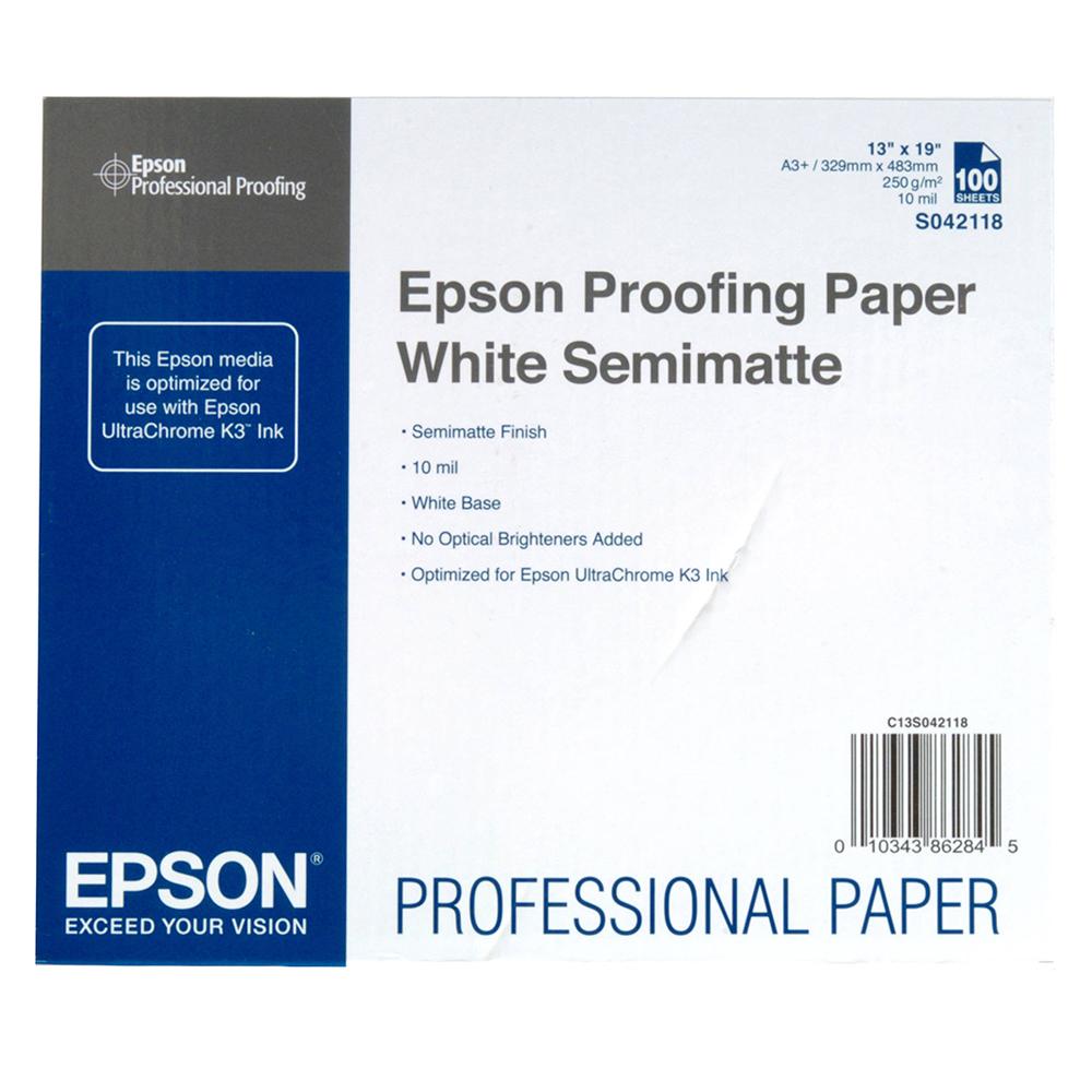 Χαρτί EPSON Proofing Paper White Semimatte, 13