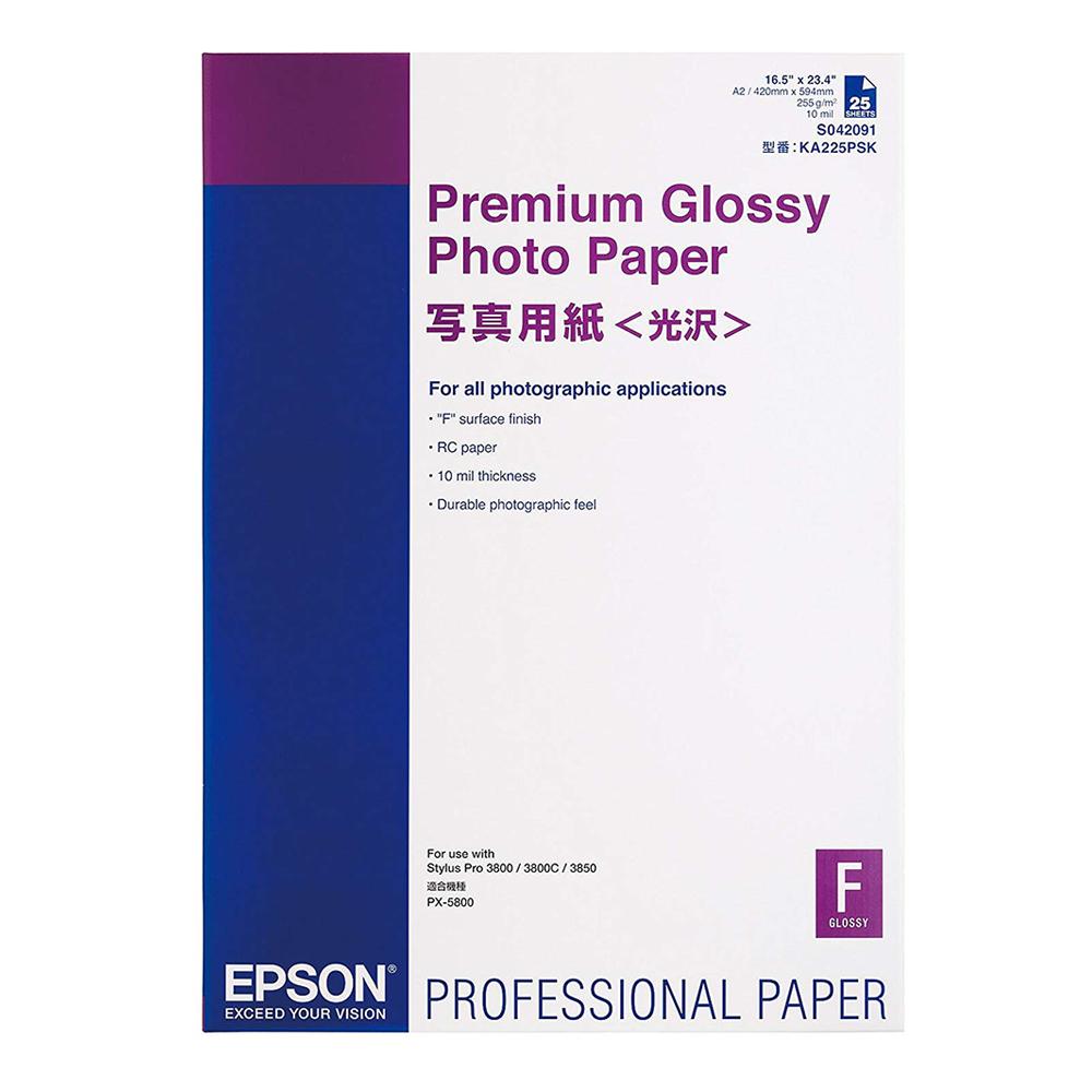 Χαρτί EPSON Premium Glossy Photo Paper, DIN A2, 255g/m², 25 Sheets (C13S042091) (EPSS042091)
