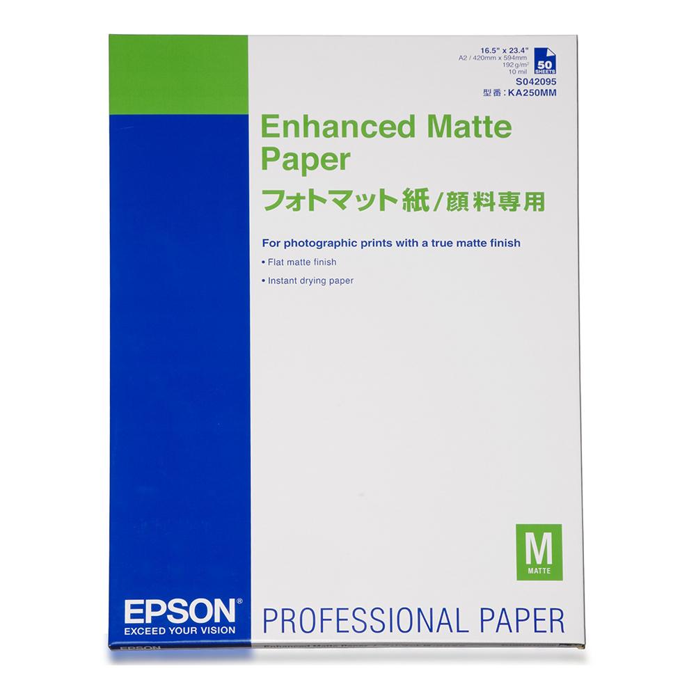 Χαρτί EPSON Enhanced Matte Paper, DIN A2, 192g/m², 50 Sheets (C13S042095) (EPSS042095)