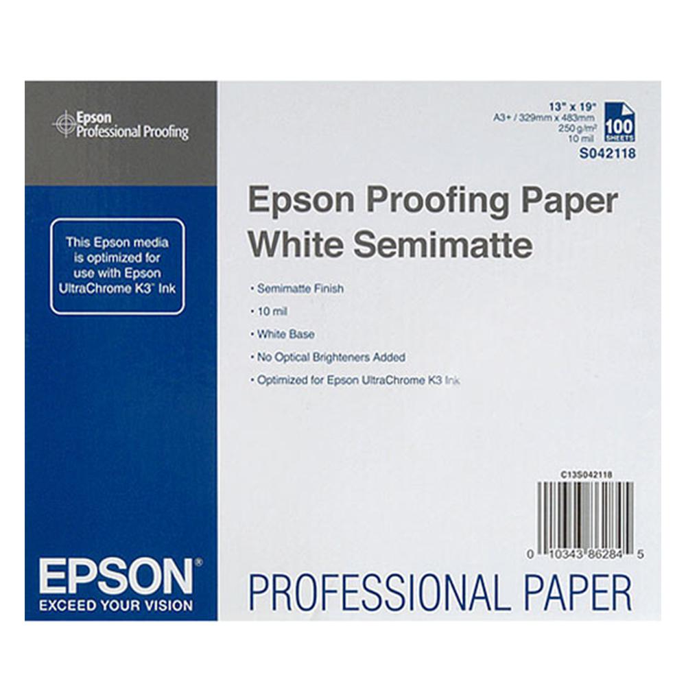 Χαρτί EPSON Proofing Paper White Semimatte, DIN A3+, 100 Sheets (C13S042118) (EPSS042118)
