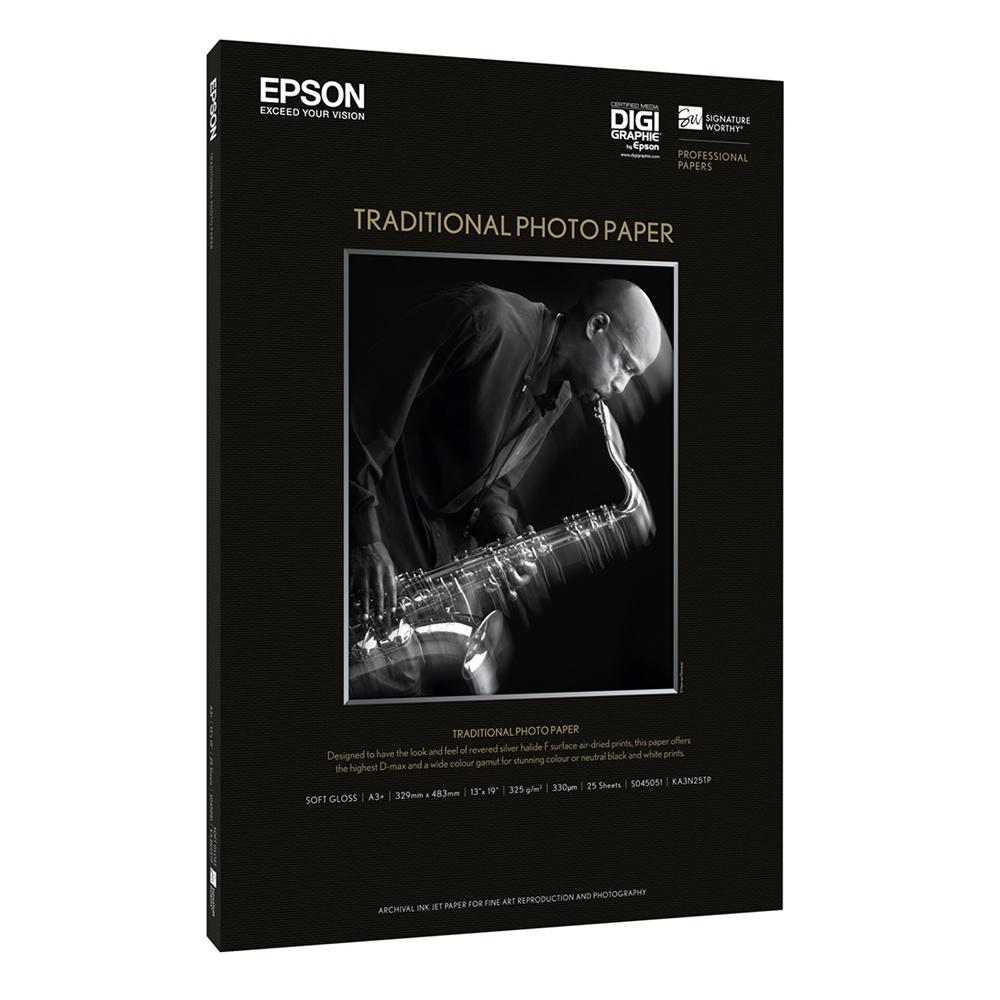 Χαρτί EPSON Traditional Photo Paper, DIN A4, 330g/m², 25 Sheets (C13S045050) (EPSS045050)
