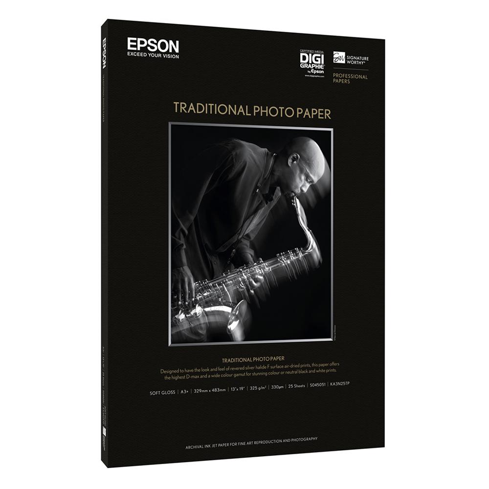 Χαρτί EPSON Traditional Photo Paper, DIN A2, 330g/m², 25 Sheets (C13S045052) (EPSS045052)