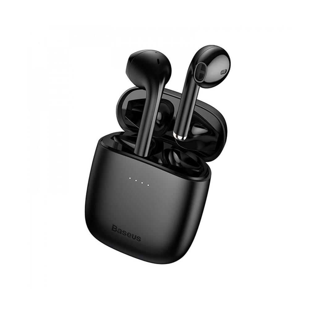 Baseus W04 Earbud Bluetooth Handsfree Μαύρο (NGW04-01) (BASNGW0401)