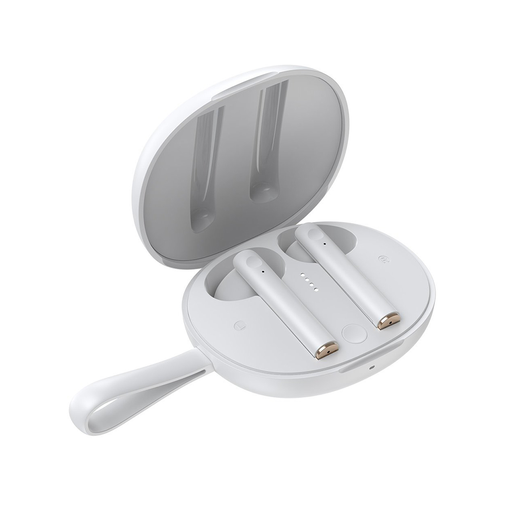 Baseus Encok W05 Earbud Bluetooth Handsfree Λευκό (NGW05-02) (BASNGW0502)