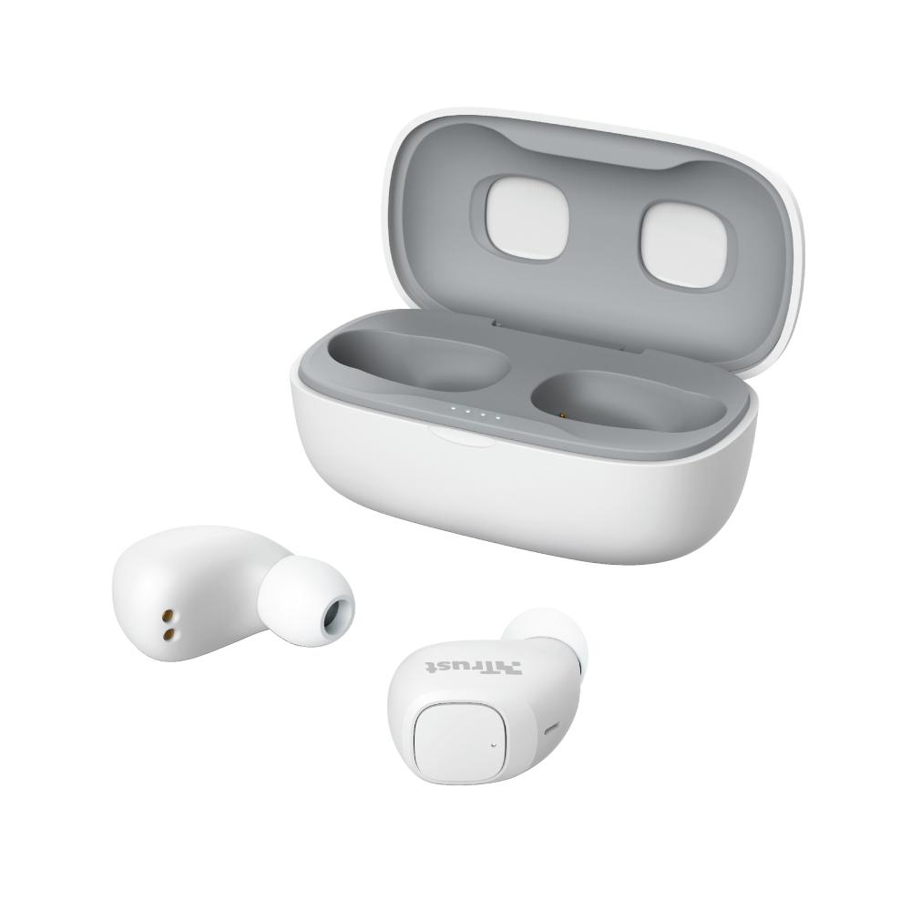 Trust Nika Compact Bluetooth Wireless Earphones - white (23904) (TRS23904)
